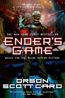 Book cover depicting Ender Wiggin in a spacesuit facing away from reader