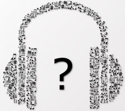 headphones with question mark