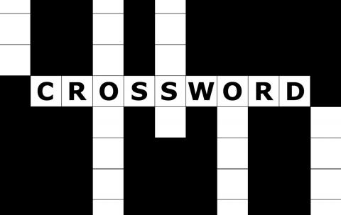 Generic photo of a crossword puzzle